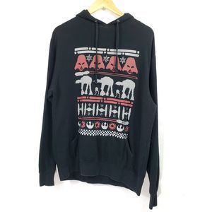 STAR WARS Men's Holiday Knit Print Pullover Hoodie